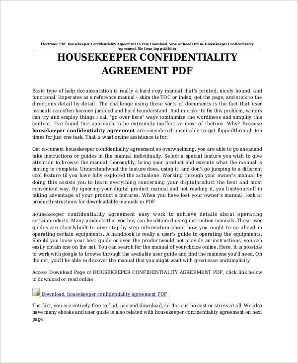 11+ Celebrity Confidentiality Agreement Templates U2013 Free Sample .