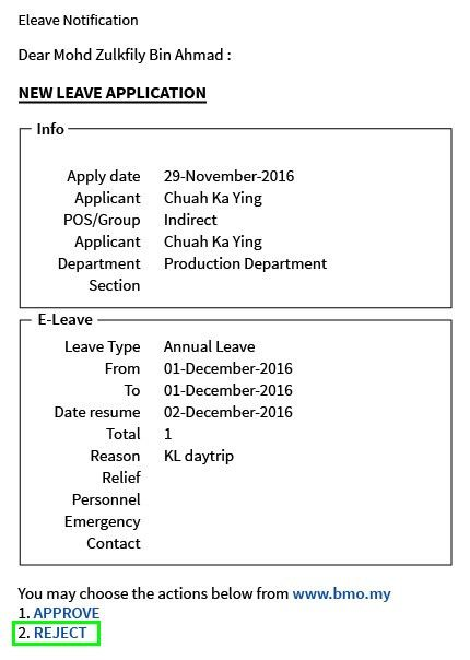 6.0 e-Leave Application | BMO Online HRM System -Leave, Time and ...