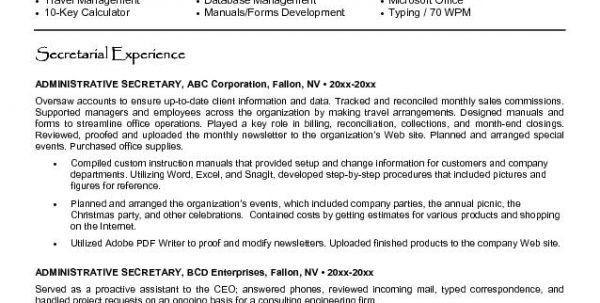 Medical Secretary Resume Secretary Resume Description Job ...