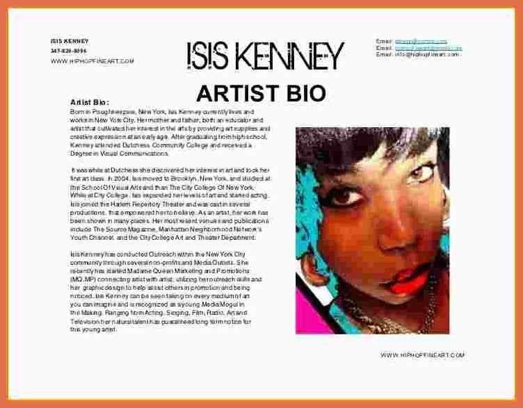 artist bio example | bio example