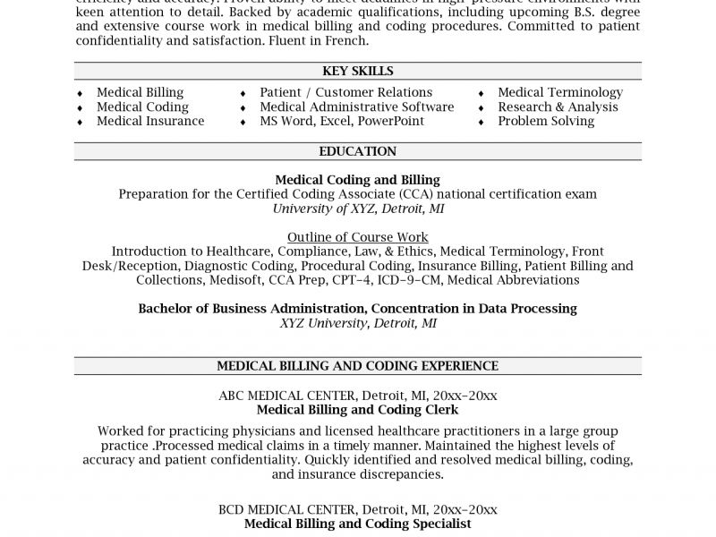 Unusual Inspiration Ideas Medical Coding Resume Samples 4 Medical ...