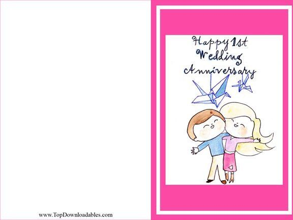 Free Print Wedding Anniversary Cards