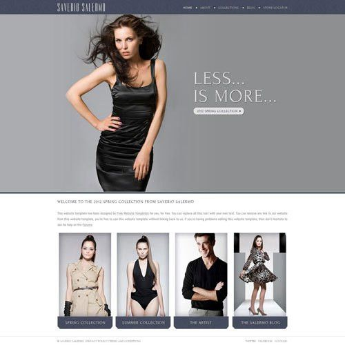 High Fashion Website Template | Free Website Templates