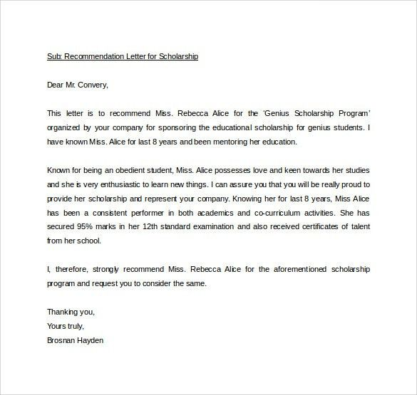 Sample Personal Letter of Recommendation - 21+ Download Free ...