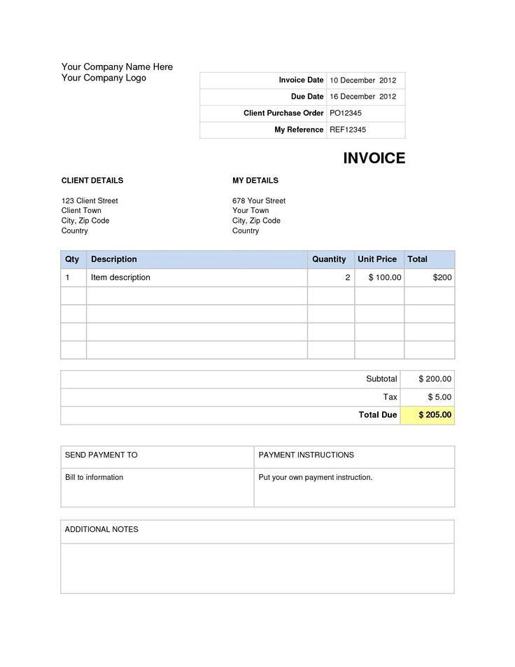 33 best invoice images on Pinterest | Invoice template, Templates ...