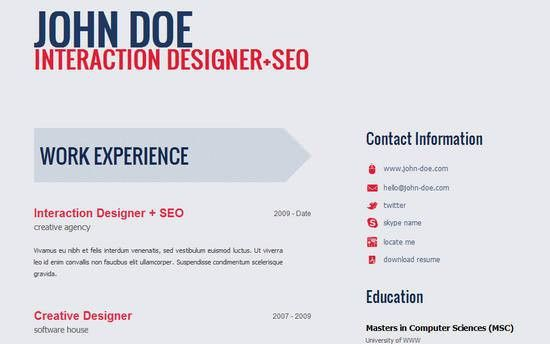 Resume Template Website. Resume Examples Designed Photoshop Modern ...