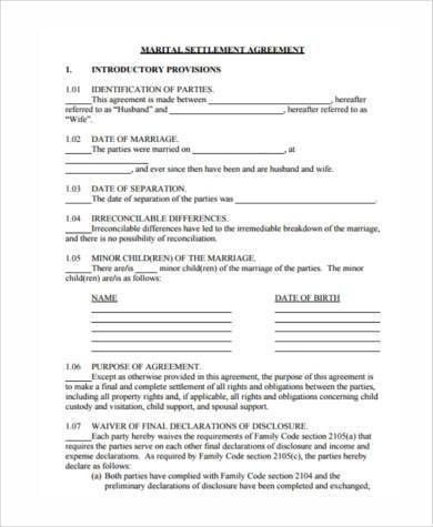 Separation Agreement Sample Forms - 8+ Free Documents in Word, PDF