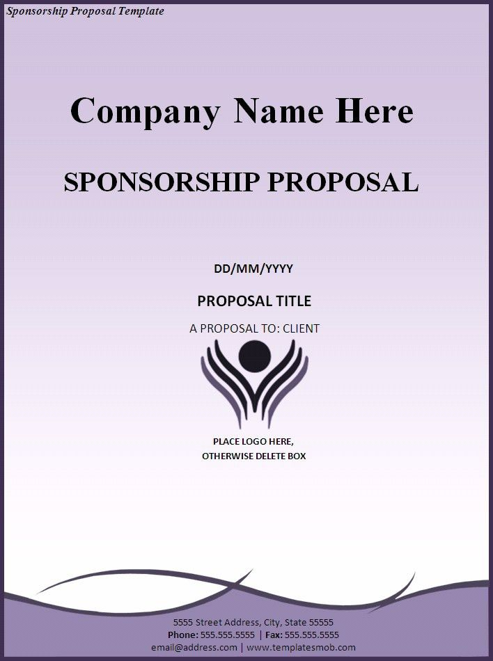 Sponsorship Proposal Template - Word Excel Formats