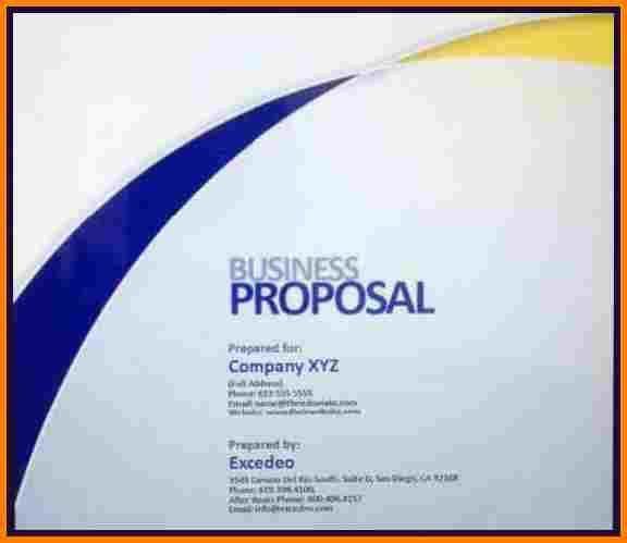 proposal cover sheet template