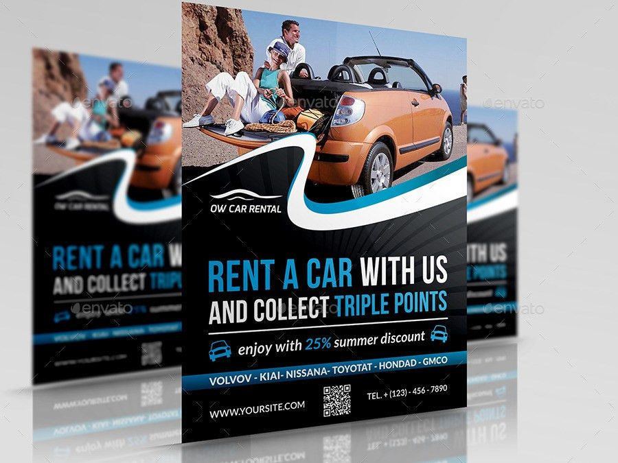 Rent a Car Flyer Template by OWPictures | GraphicRiver