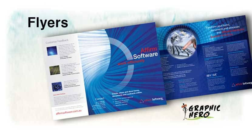 Printing Flyers, Online Flyers, Professional Flyer Design, UV Flyers