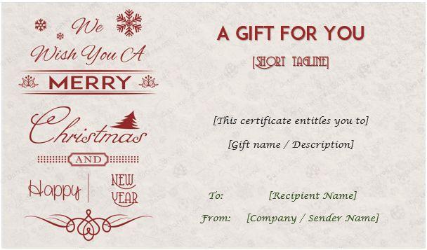 Christmas Gift Certificate Templates - Editable and Printable Designs