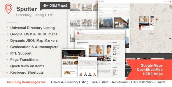 Spotter - Universal Directory HTML Template by ThemeStarz ...