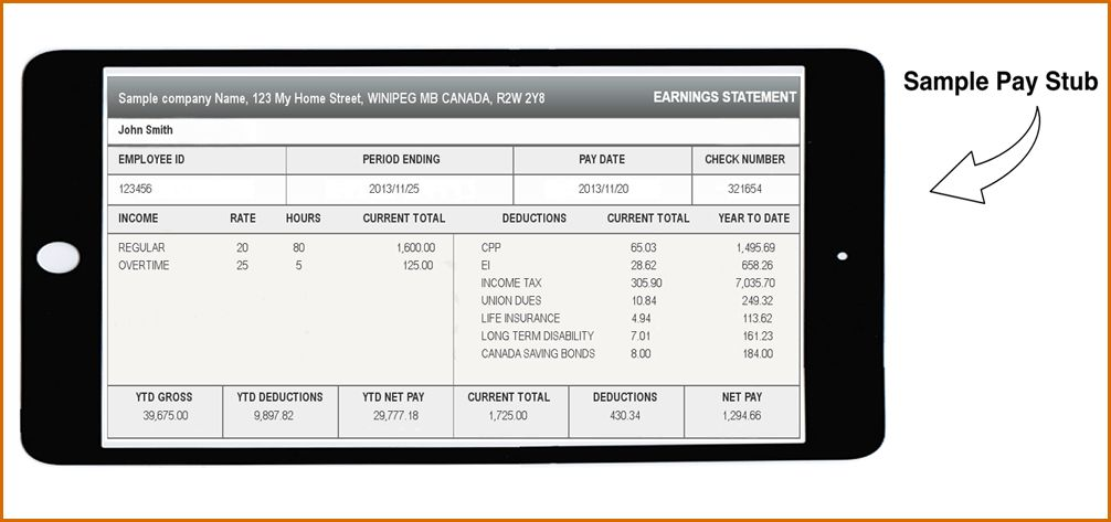 8+ excel pay stub template | Authorizationletters.org