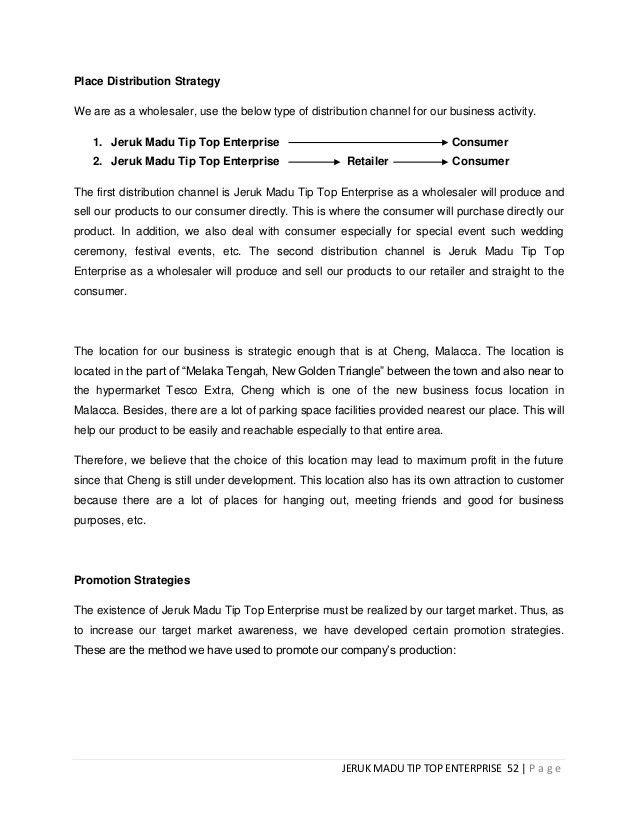 ENT300 Business Proposal Jeruk madu tip top
