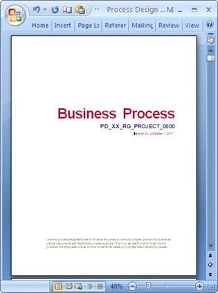 Business Process Design Template - Download Word, Excel & Visio BPMs