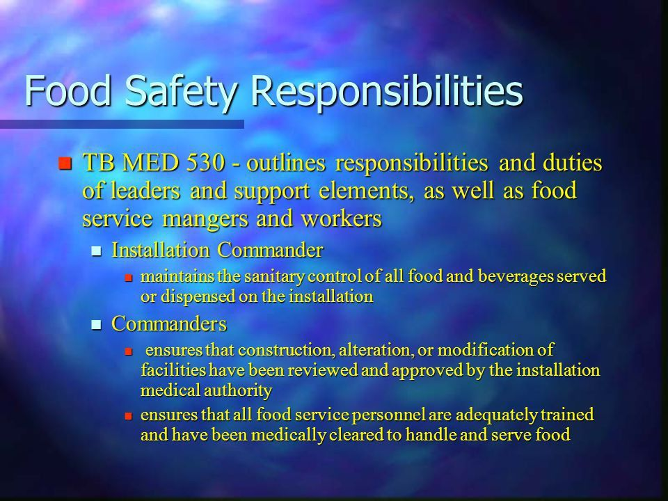 DHCA 2113 Food safety & Sanitation - ppt download
