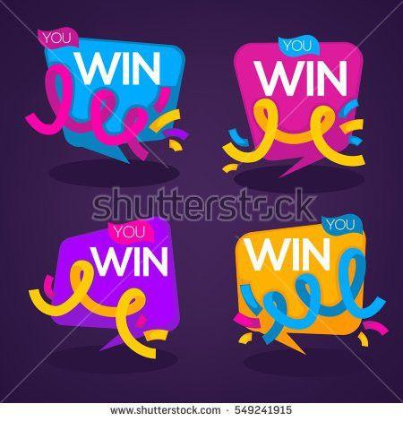 You Win Vector Congratulation Banner Templates Stock Vector ...