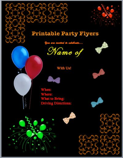Family Flyers   Free Flyer Templates