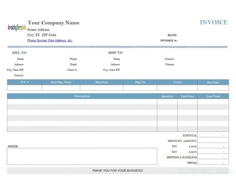 Download Rent Invoice Template Uk | rabitah.net