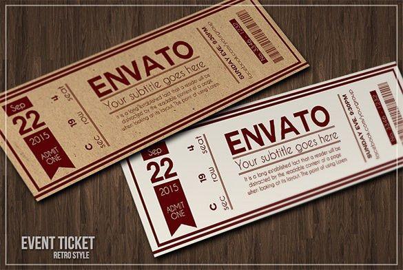 free ticket invitation templates word