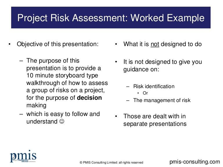 Project Assessment Template. Project Risk Assessment Worked ...