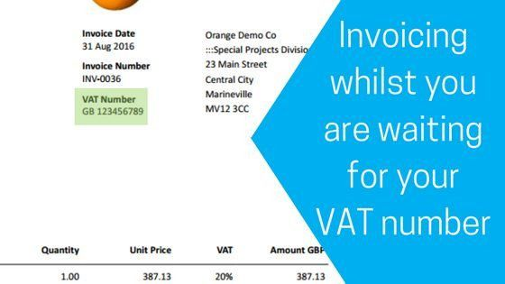 Invoicing whilst you are waiting for your VAT number - Caseron ...