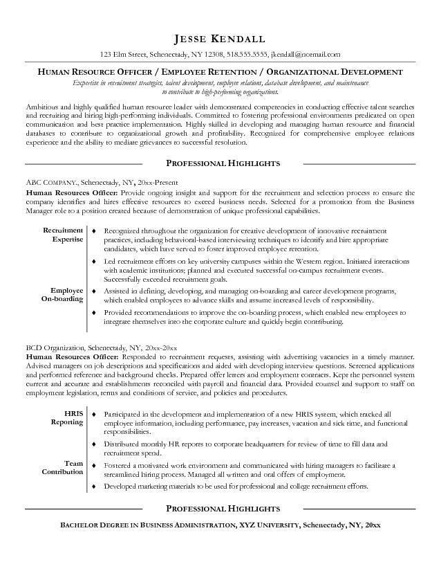 Hr ResumeHr Resume Templates. Human Resources (Hr) Resume Sample ...