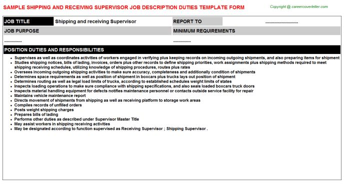Shipping And Receiving Clerk Walmart Job Descriptions