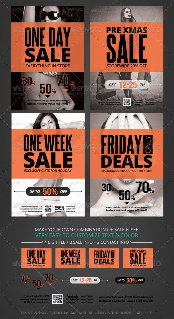 Store Sale Flyer Template | Holiday store, Flyer template and Store