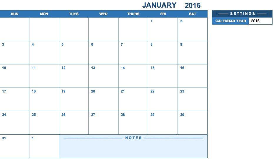 Calendar Excel 2017 | Blank Calendar Design 2017