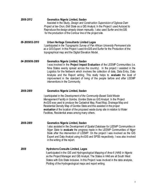 Gis Technician Resume Gis Technician Resume Samples Visualcv Resume - gis analyst sample resume