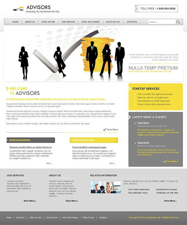 Best html css templates for financial advisors