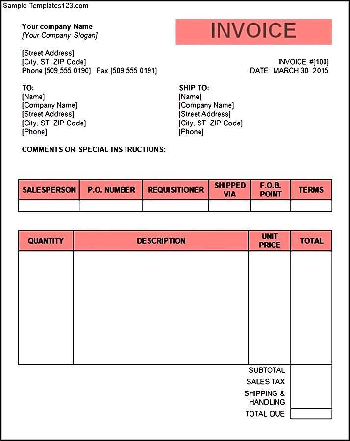Tax Invoice Template Word Doc | invoice example