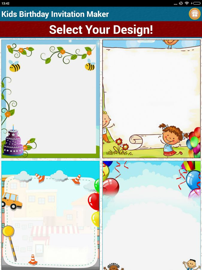 Kids Birthday Invitation Maker - Android Apps on Google Play