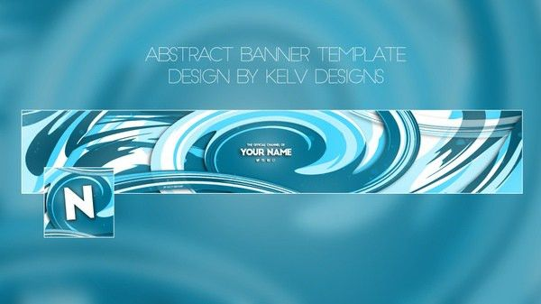 Professional - Youtube banner template | Kelv Designs™ - Sellfy.com