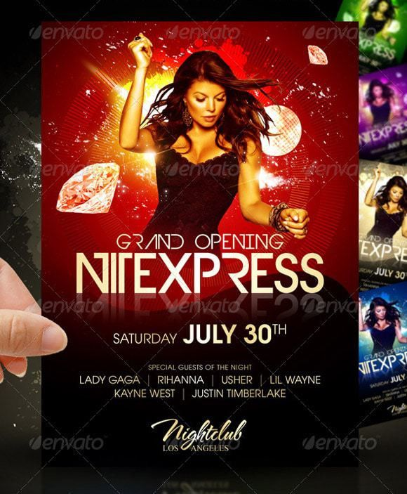 Flyer Templates: 30 Premium Party Advertisement Designs ...