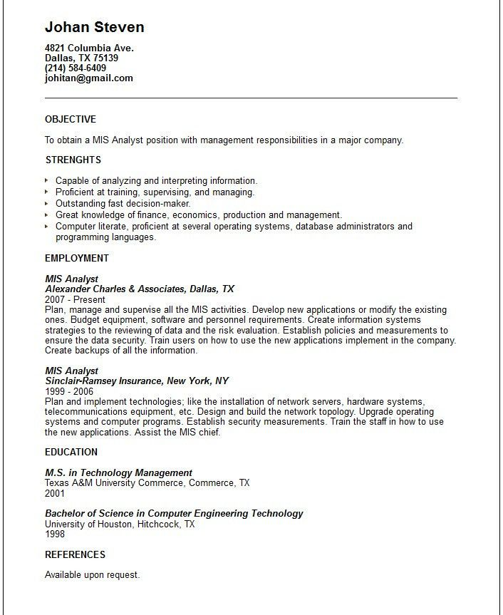 top 8 information system manager resume samples in this file you ...