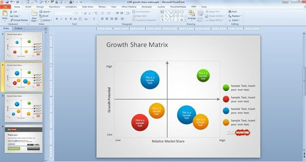 Free Growth Share Matrix Template for PowerPoint - Free PowerPoint ...