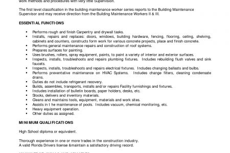 Highway Maintenance Resume Sample - Reentrycorps