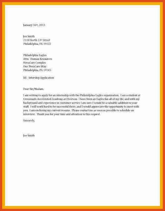 short cover letter sample | moa format