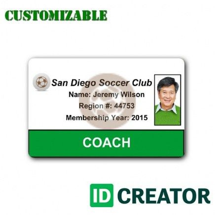 ID Card for Soccer Player   Order in Bulk from IDCreator