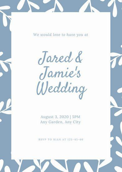 Wedding Invitation Templates - Canva