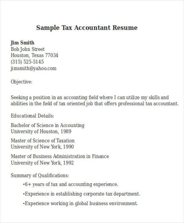 sample tax accountant resume accountant resume unforgettable tax