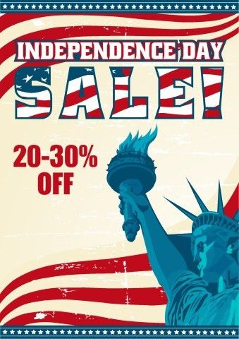 Independence Day Sale poster template, How to design an ...