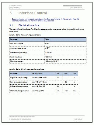 Interface Control Document - Download MS Word Template