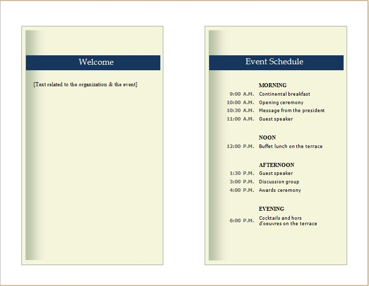 Customizable Event Proposal Template for MS WORD | Document Hub