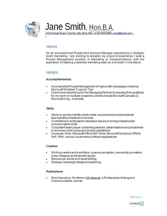 Resume Sample Templates | Free Resumes Tips
