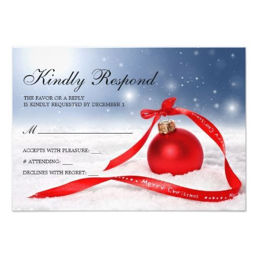 47 best Christmas And Holiday Party RSVP Cards images on Pinterest ...