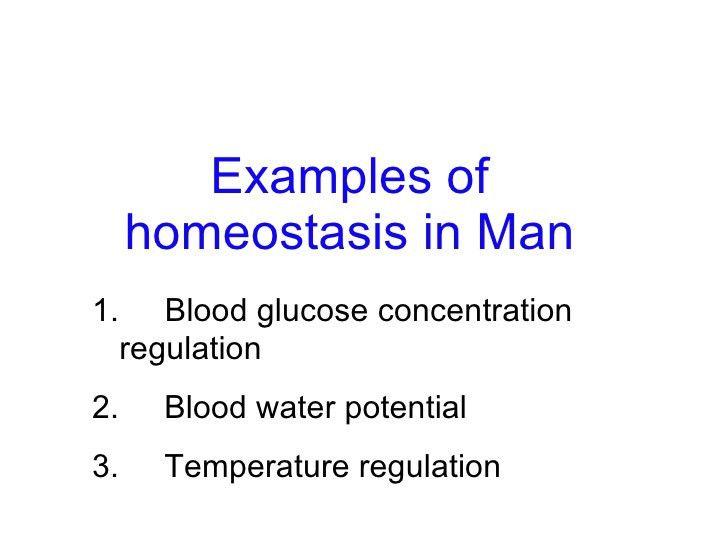 12 Homeostasis Lesson 2 - Examples of Homeostasis in Man